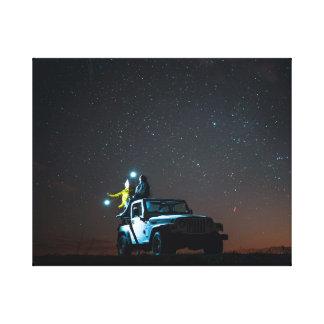 Auto unter den Sternen Leinwanddruck