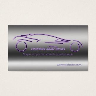 Auto-Verkäufe, lila LuxusSportscar, Stahleffekt Visitenkarte