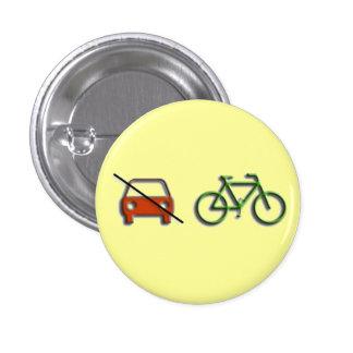 Auto vs. Fahrrad Runder Button 2,5 Cm