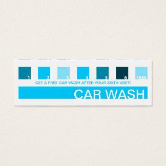 AUTO-WÄSCHE-Kundenanerkennung (Modquadrate) Mini Visitenkarte