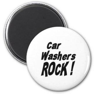 Auto-Waschmaschinen-Felsen! Magnet Runder Magnet 5,1 Cm