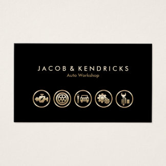 Auto-Werkstatt-Goldikonen BusinessCard Visitenkarte