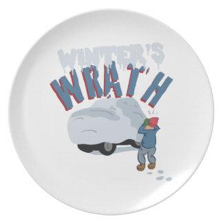 Auto-Winter-Zorn Teller