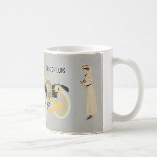 Autoanzeige illustriert durch Coles Phillips Kaffeetasse