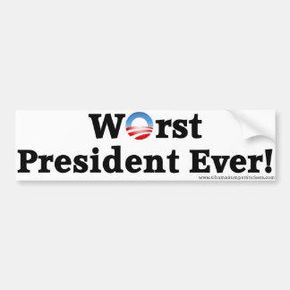 """Autoaufkleber Anti-Obama-""""schlechtester Präsidente"""