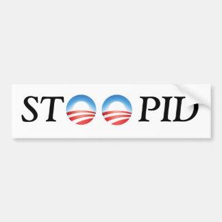 Autoaufkleber Anti-Obama STOOPID