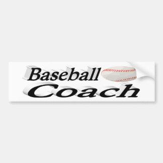 Autoaufkleber des Baseballtrainer-3D