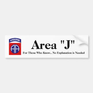 Autoaufkleber des Bereichs-J