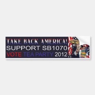 Autoaufkleber des Tee-Party-SB1070