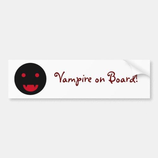 Autoaufkleber des Vampire an Bord