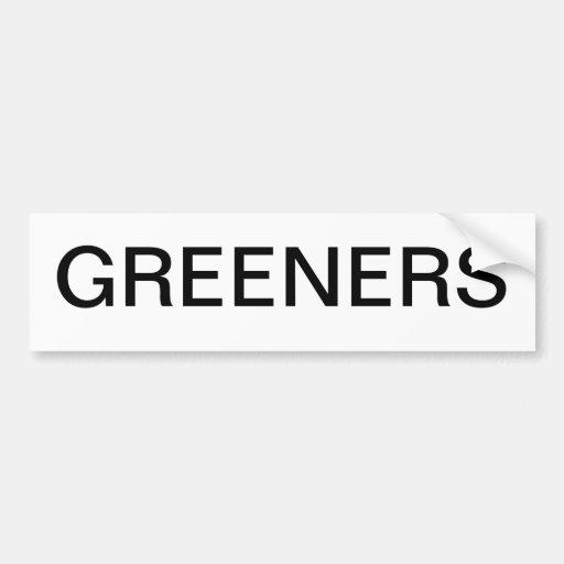 Autoaufkleber für grüne Personen