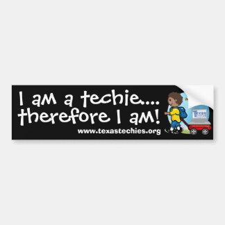 Autoaufkleber - ich bin ein techie