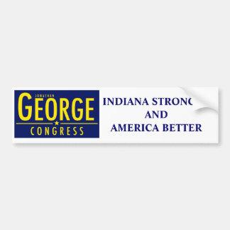 Autoaufkleber Indiana stärker und Amerika besser