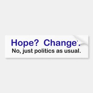 Autoaufkleber - keine Hoffnungs- und Änderungspoli