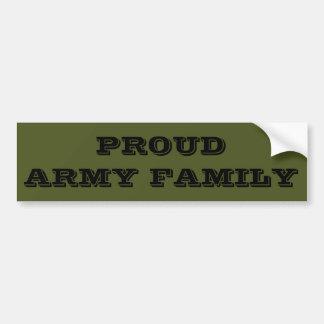 Autoaufkleber-stolze Armee-Familie Autoaufkleber