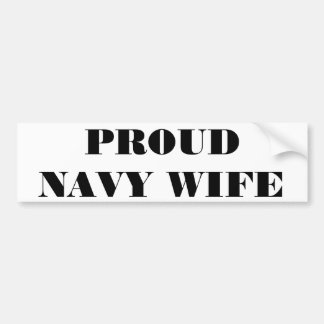 Autoaufkleber-stolze Marine-Ehefrau Autoaufkleber