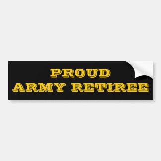 Autoaufkleber-stolzer Armee-Rentner Autoaufkleber