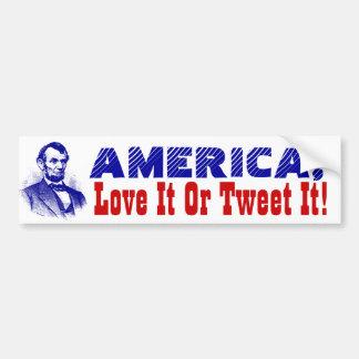 Autoaufkleber Trump Amerika-Liebe es oder tweeten