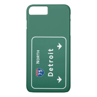 Autobahn-Autobahn Detroits Michigan MI: iPhone 8 Plus/7 Plus Hülle