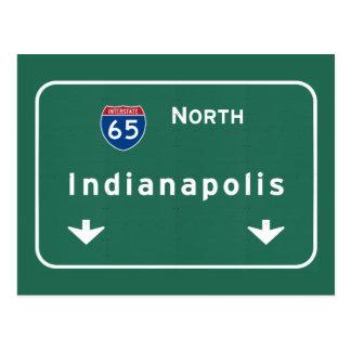 Autobahn-Autobahn Indianapolis Indiana: Postkarte