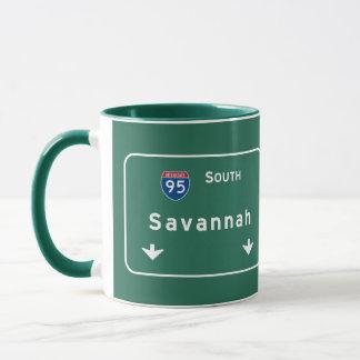 Autobahn-Autobahn Savanne-Georgia GA: Tasse