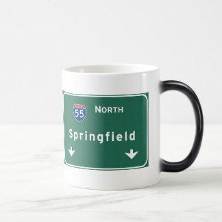 Autobahn-Autobahn Springfields Illinois: Verwandlungstasse