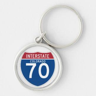 Autobahn-Schild Colorados Co I-70 - Schlüsselanhänger
