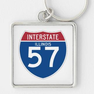 Autobahn-Schild Illinois IL I-57 - Schlüsselanhänger