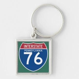 Autobahn-Schild Pennsylvania PAs I-76 - Schlüsselanhänger