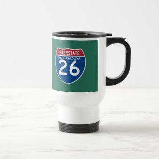 Autobahn-Schild South Carolina Sc I-26 - Reisebecher