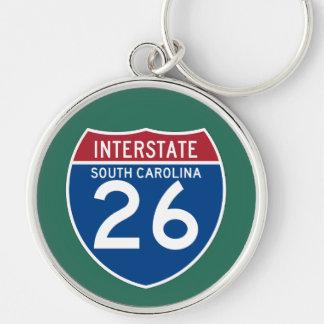 Autobahn-Schild South Carolina Sc I-26 - Schlüsselanhänger