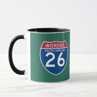 Autobahn-Schild South Carolina Sc I-26 - Tasse