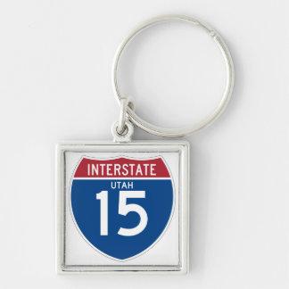 Autobahn-Schild Utahs UT I-15 - Schlüsselanhänger