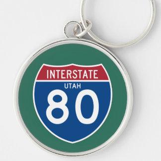 Autobahn-Schild Utahs UT I-80 - Schlüsselanhänger