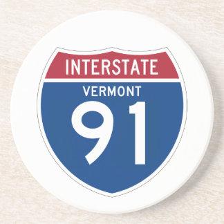 Autobahn-Schild Vermont VT I-91 - Getränkeuntersetzer