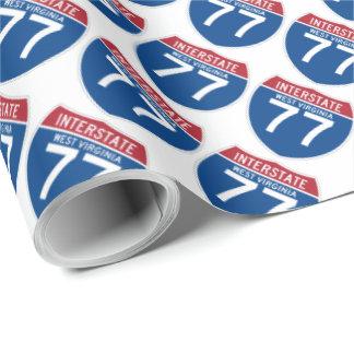 Autobahn-Schild West Virginia WV I-77 - Geschenkpapier