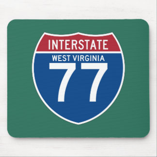 Autobahn-Schild West Virginia WV I-77 - Mousepad