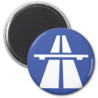 Autobahnschild Runder Magnet 5,1 Cm