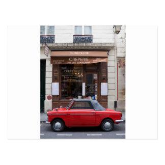 Autobianchi in Paris Postkarte