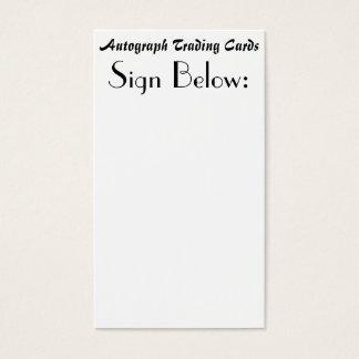 Autographische Trading Cards Visitenkarte