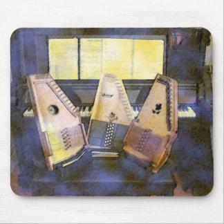 Autoharps Klavier und Gitarre Mauspad