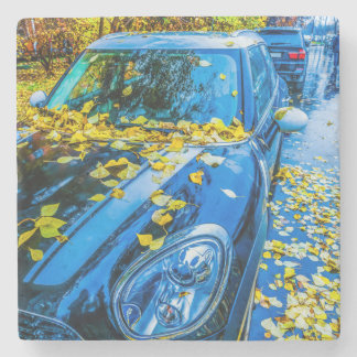 Automobil, Auto - Jahreszeit des gefallenen Steinuntersetzer