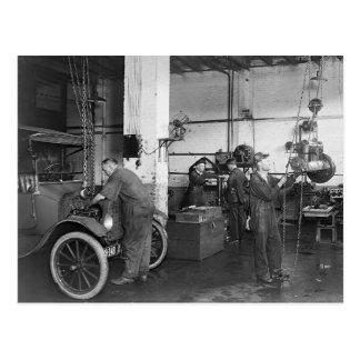 Automobil-Reparaturwerkstatt, 1919 Postkarte