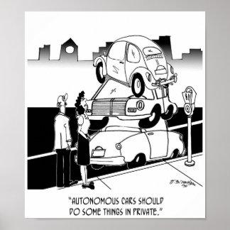 Autonomer Auto-Cartoon 9474 Poster