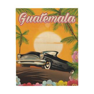 Autoreiseplakat Guatemalas Vintages Holzwanddeko