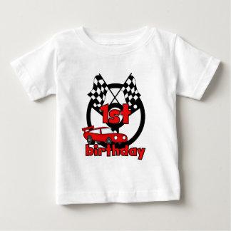 Autorennen-1. Geburtstagst-shirts und -geschenke Baby T-shirt