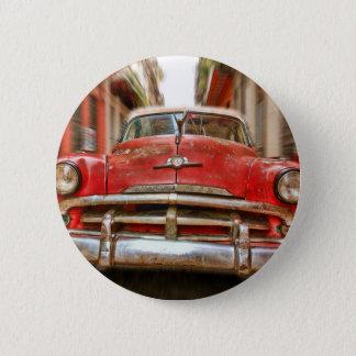 Autorennen in den Straßen von altem Havana, Kuba Runder Button 5,1 Cm