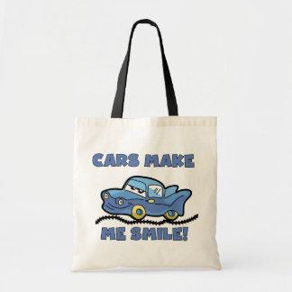 Autos machen mich Lächeln-T-Shirts und Geschenke Leinentaschen