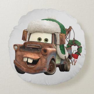 Autos | Mater im Winter-Gang Rundes Kissen