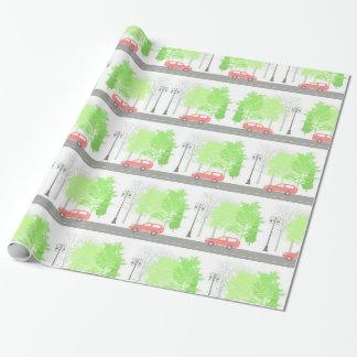 Autos und Bäume Geschenkpapier